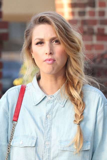 whitney_port_blue_cotton_shirt