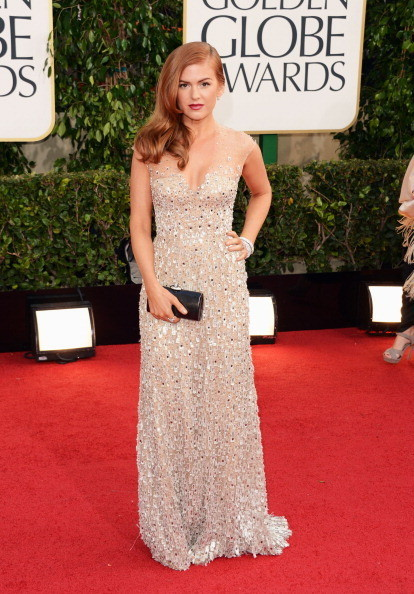 Isla Fisher Wears Reem Acra