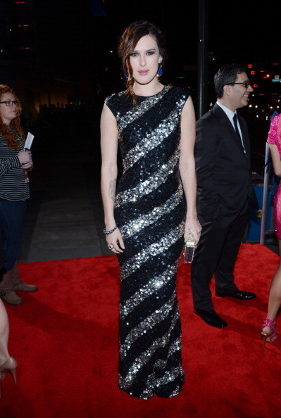 Rumer Willis—Hollywood royalty by any measure!—wore this glittery, sequined Alice & Olivia