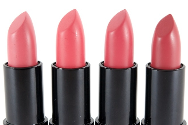 Rimmel Kate Moss Lasting Finish Matte Lipsticks (L-R) 101, 102, 103 & 104