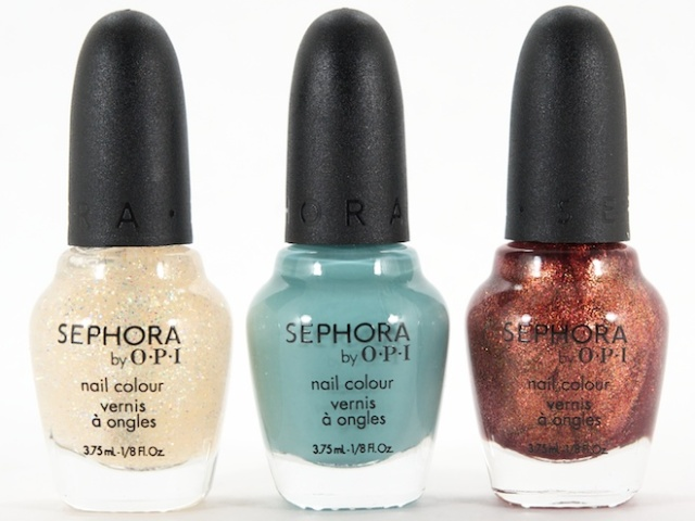 Sephora by OPI Nail Lacquers in (L-R) All That Jasmine, Dream Princess & Aladdin's Girl