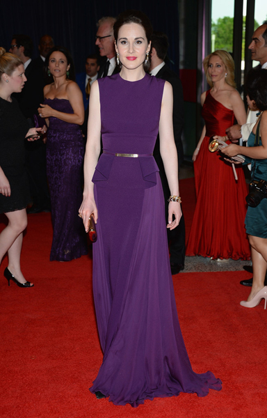 MICHELLE DOCKERY WEARING ELIE SAAB