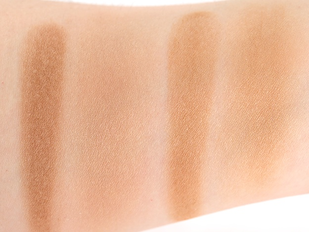 Swatches (L-R) Sun Dipped (heavy, then blended out) & Nude On Board (heavy, then blended out