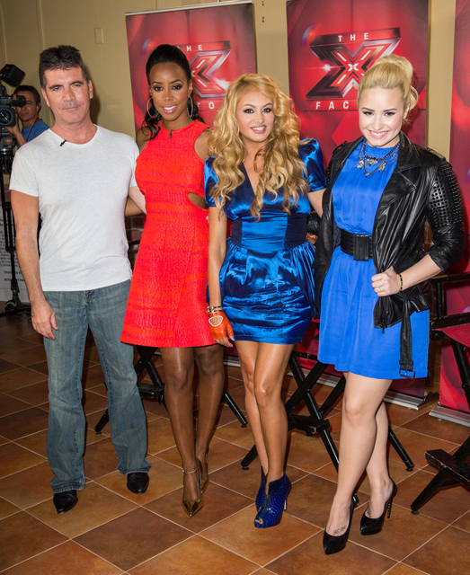 Demi+Lovato+X+Factor+Judges+Promote+Their+_E_MrYA7g7Ax