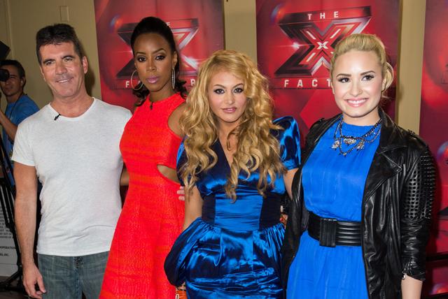 Demi+Lovato+X+Factor+Judges+Promote+Their+zzoIa7QTwiRx