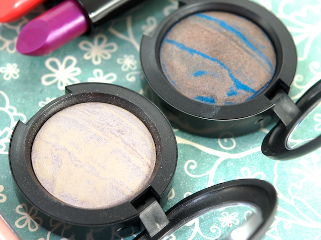 MAC Mineralize Eye Shadows in Dare To Bare (left) & Bossa Blue (right) ($22