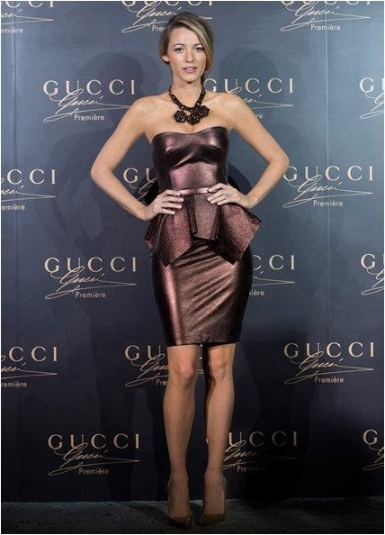 """Blake Lively helped promote Gucci's """"Première"""" fragrance in Shanghai, China last week."""