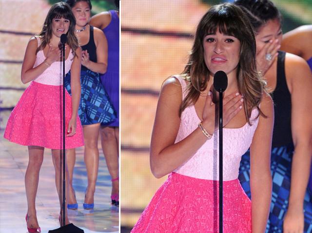 Lea-Michelle-In-Oscar-de-la-Renta-2013