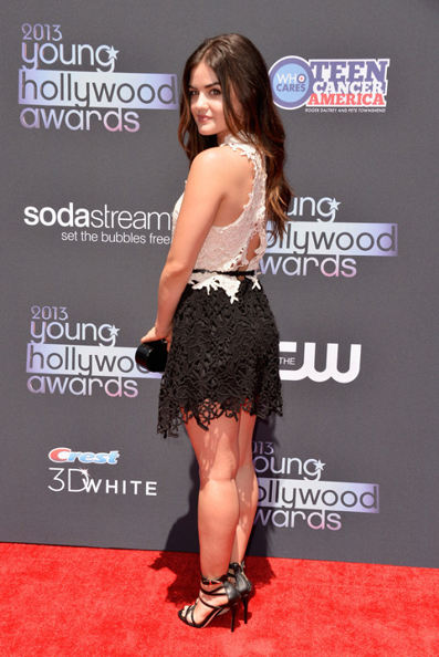 Lucy-Hale-Wearing-Joy-Cioci-2013-Young-Hollywood-Awards-dress-600x898