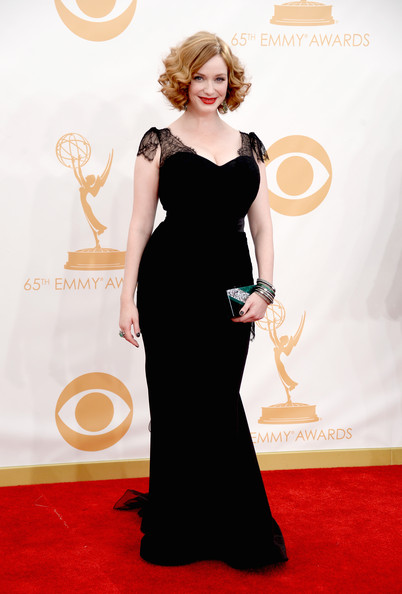 Christina Hendricks in Custom Christian Siriano