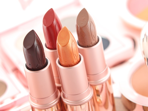 MAC Lipstick in (clockwise from back left) RiRi Woo, Nude, Who's That Chick & Talk That Talk ($16.50 - See more a