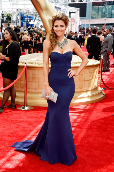 Maria Menounos in Zac Posen