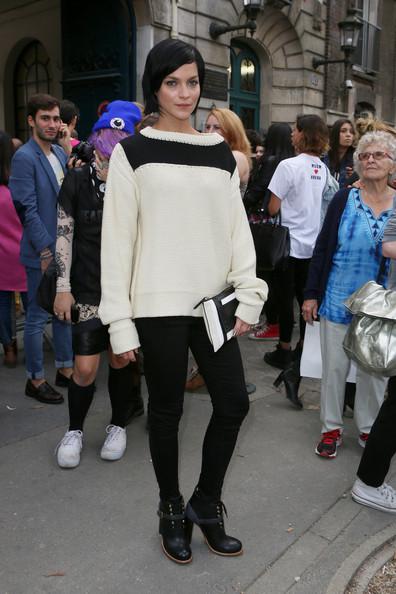 Leigh+Lezark+PFW+Arrivals+Chloe+Womenswear+0n0n5LbQDEKl