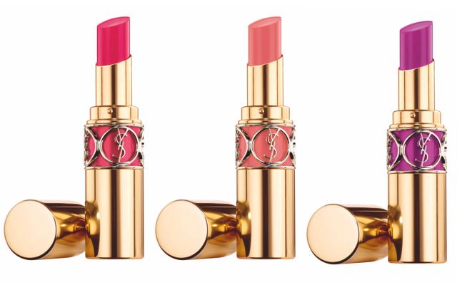 Rouge Volupté Shine in (L-R) 6 Pink in Devotion, 13 Pink in Paris & 19 Fuchsia in Rage $34 USD