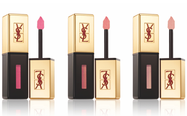 Yves Saint Laurent Vernis à Levres in (L-R) 104 Fuchsia Tomboy, 109 Fuchsia Fugitive & 110 Reckless Pink $34 USD