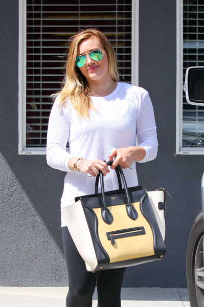 Hilary-Duff-Celine-Luggage-Tote-Tricolor-2
