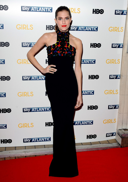 Allison Williams Wearing Alexander McQueen