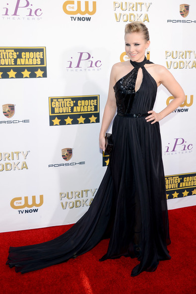 Kristen Bell Wearing Pamella Roland – 2014 Critics' Choice Movie Awards