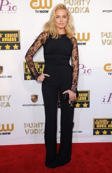 Margot Robbie Wearing Elie Saab – 2014 Critics' Choice Awards