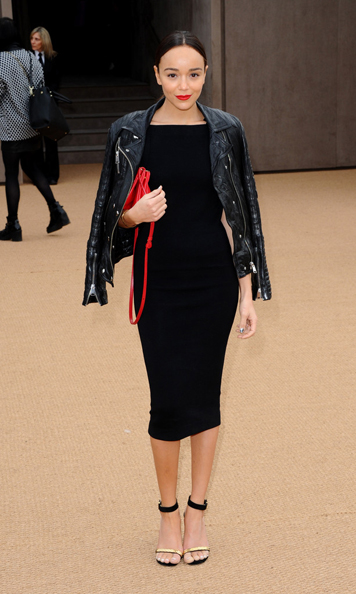 ashley-madekwe Burberry Prorsum's Fall 2014 Show