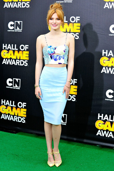Bella Thorne, in Bec & Bridge, attends Cartoon Network's 2014 Hall of Game Awards