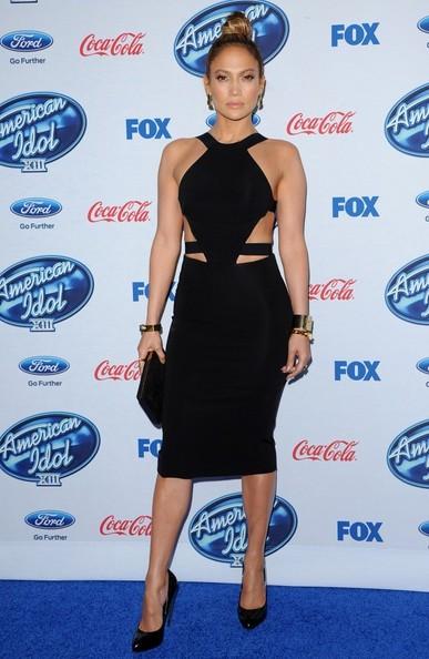 Jennifer+Lopez+Wearing Cushnie Et Ochs Dress – 'American Idol' XIII Finalists Party