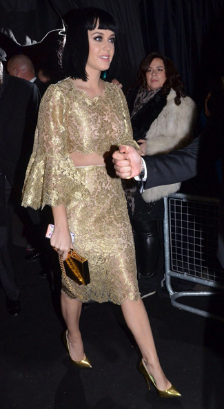 Katy Perry, attends BRIT Award Show