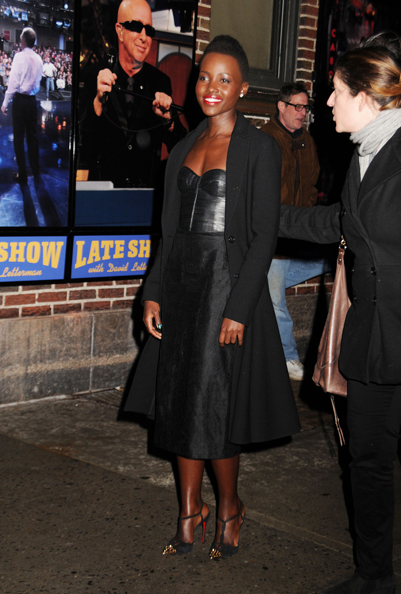Lupita NYong'o attends the Late Show With David Lettermen at the Ed Sullivan Theatre in New York City