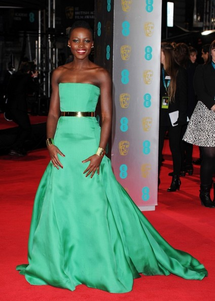 Lupita Nyong'o, in Dior Couture, attends BAFTA Award Show