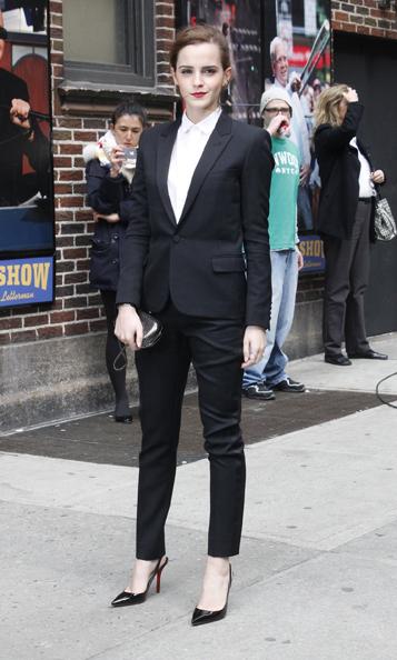 Emma Watson Late Show David Letterman 5