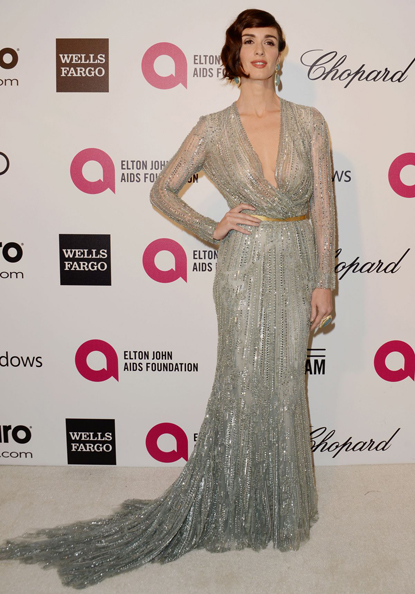 paz-vega-at-elton-john-aids-foundation-oscar-party- Elie Saab