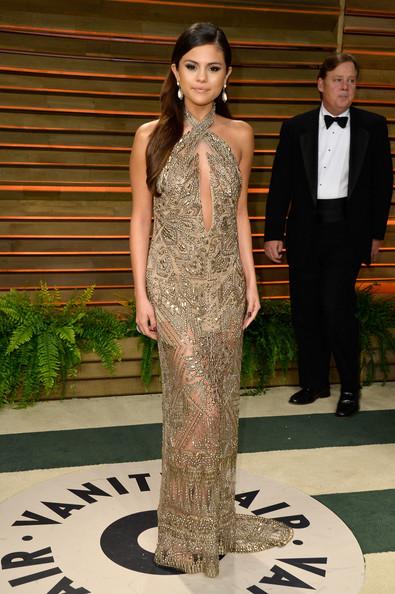 Selena+Gomez Vanity+Fair+Oscar+Party Emilio Pucci