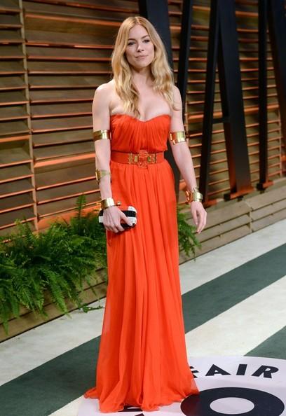 Sienna+Miller+2014+Vanity+Fair+Oscar+Party Alexander McQueen