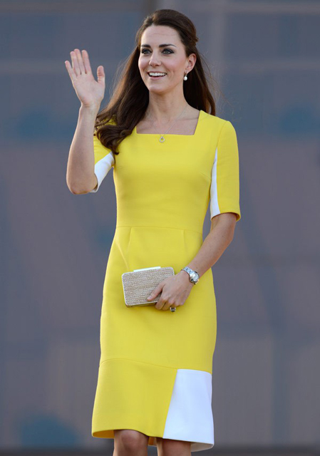 Kate Middleton wears Roksanda Illincic to a reception at Sydney Opera House