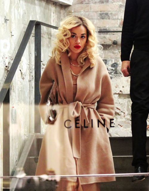 Rita Ora shops
