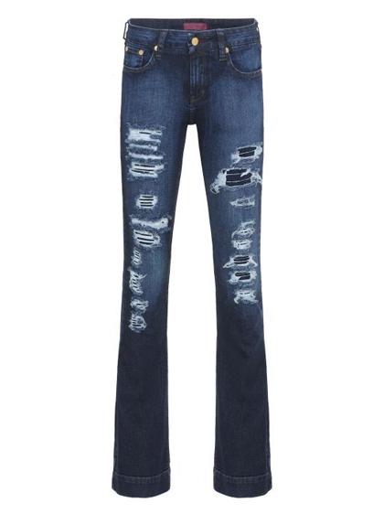 calca jeans rasgada R$139,00