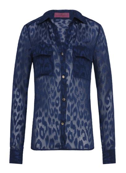 camisa onca transparente azul R$89,90