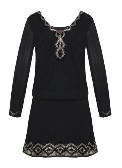vestido preto manda longa R$399,00
