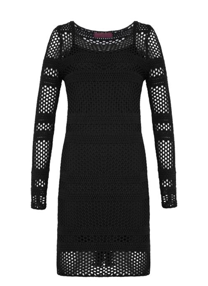 vestido preto vazado R$169,00