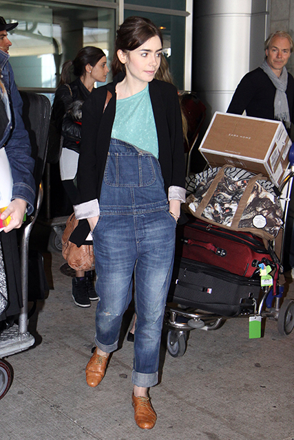 Lily Collins, Jamie Campbell Bower and 'Mortal Instruments' cast arrive in Toronto for Canadian Premiere