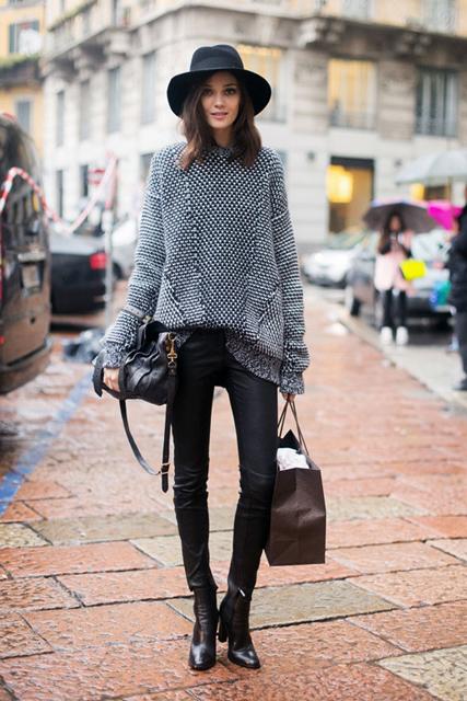 Le-Fashion-Blog-Model-Off-Duty-Diana-Moldovan-Fedora-Textured-Knit-Elle-1