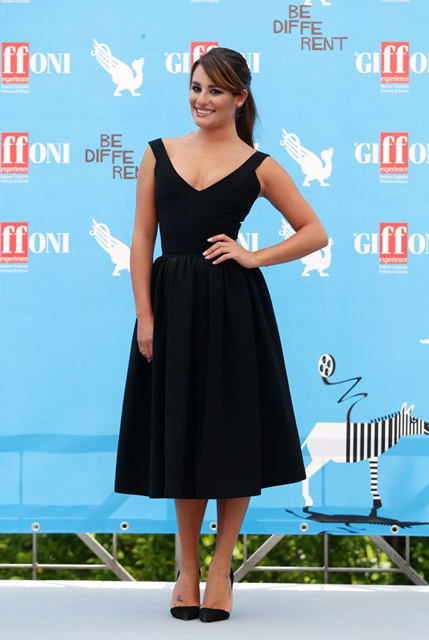 Lea Michele, in Preen, at Giffoni Film Festival in Giffoni, Italy