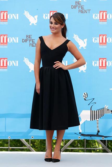 Lea Michele, in Preen, at Giffoni Film Festival in Giffoni, Italy