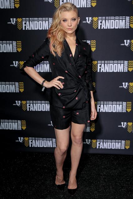 Natalie Dormer attend MTVu Fandom Awards at Comic Con2