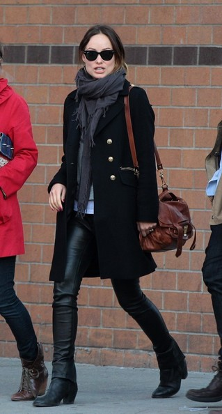 Olivia+Wilde+Outerwear+Wool+Coat+lMDlhPVs7Hwl