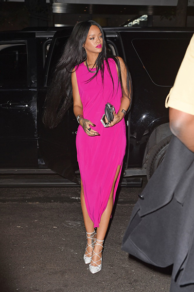 Rihanna arrives at Butter restaurant in New York City