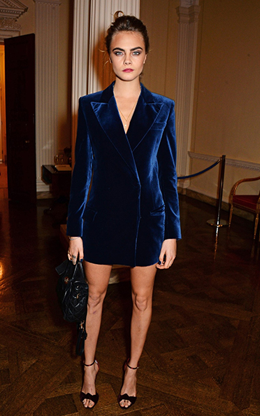 Cara Delevingne wears Emilio Pucci at Vogue and J Crew London Fashion Week Dinner