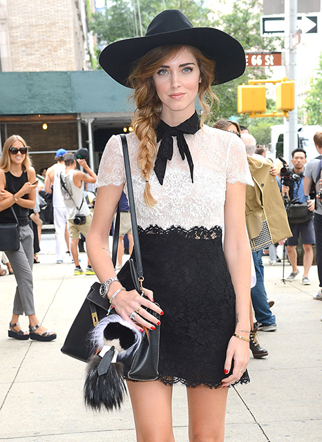 Chiara Ferragni Hermès Kelly Bag Fendi Karlito Bag Bug