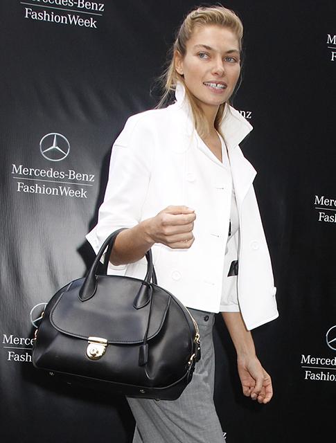 Jessica Hart Salvatore Ferragamo Fiamma Bag