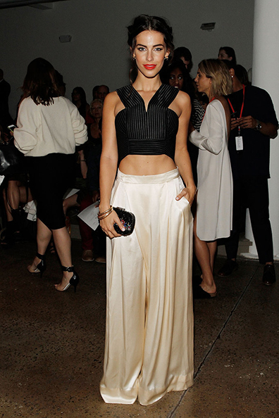 Jessica Lowndes at the Houghton Spring 2015 runway show